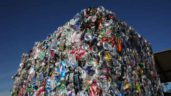 impact of recycling cans crushed