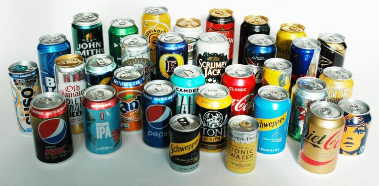 Group of cans